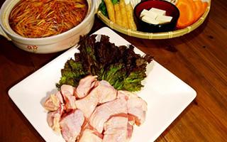 若鶏鍋/鶏チゲ鍋コース